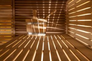 Sauna close-up